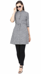 Women Cotton Check Tunics