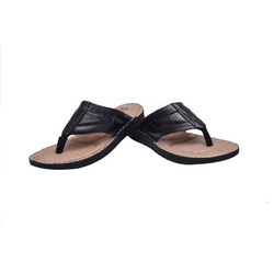 Black Leather Slipper, Size: 6 to 11