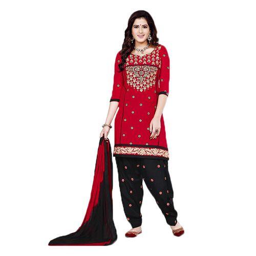 f6ef69c02b Cotton Red Patiala Suit at Rs 900 /piece | Patiala Salwar Kameez ...