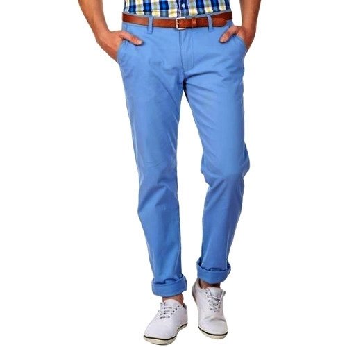 Cotton Mens Blue Chinos 6a3c765ac56b