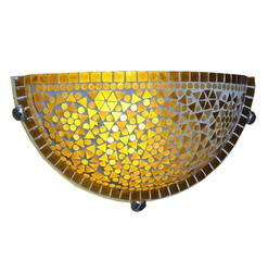 Yellow Mosaic Wall Uplighter