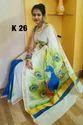 Cotton Hand Paint Saree