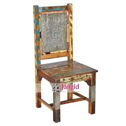 Jangid Art & Crafts Natural Reclaimed Wooden Dining Chair, Size/Dimension: 45x45x100 Cms