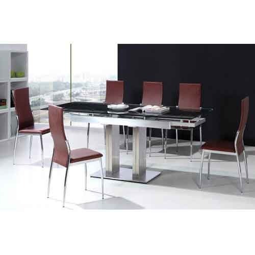 Glass Stainless Steel Top Dining Table At Rs 16700 Piece