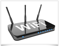 Black Wireless or Wi-Fi WiFi Router