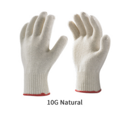 Cotton Knitted Seamless Gloves 10 Gauge Reusable Gloves Premium Quality