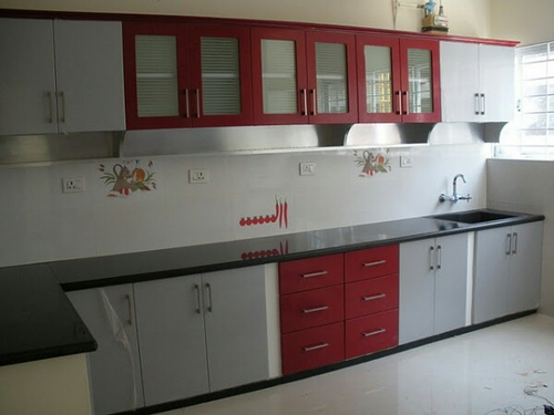 Pvc Wall Paneling False Ceiling U0026 Modular Kitchen Red White Manufacturer  From Lucknow Part 93