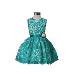 a12b32a4a402 Green Two Tone Lace Frock