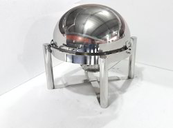 Chafing Dish - Round Doom / Rolltop Type 7.5 Lit. Cap.