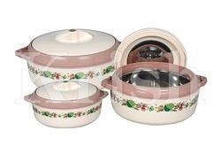 Flora Hot Pot and Casserole 3 Pcs Set