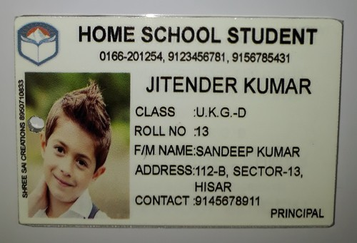 standard size and design id card acrylic digital printed rs 30