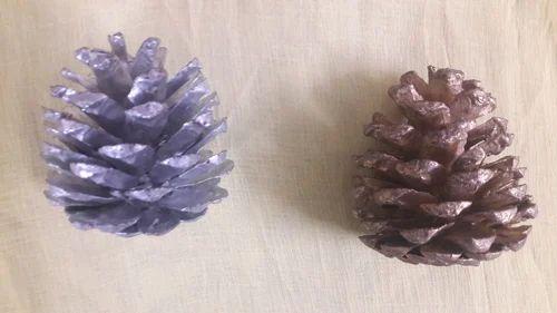 Golden & Silver Pine Cone