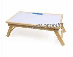 Ekta Product Wooden Folding Study Whiteboard Table