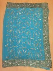 Lite Blue Dabka Saree