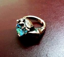 Opal Electroformed Ring