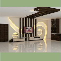 Living Room Interior Design 2D And 3D