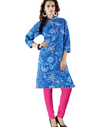 Ladies Floral Printed Cotton Kurti