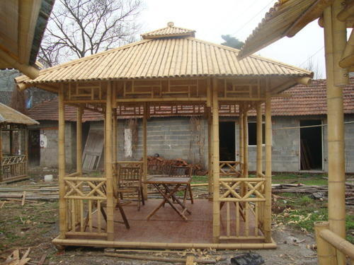 Nature Friendly Bamboo House Design: Wood Bamboo Hut, Rs 700 /square Feet, Thatched Roof Eco