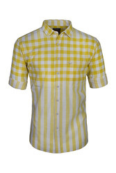 Men Dual  Yellow Stripe Shirts