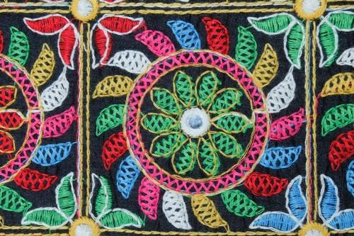Kutchi Work On Cotton Multi Color Thread Work On Cotton At Rs 850