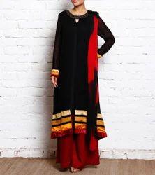 Pakistani Style Long Palazzo Suit