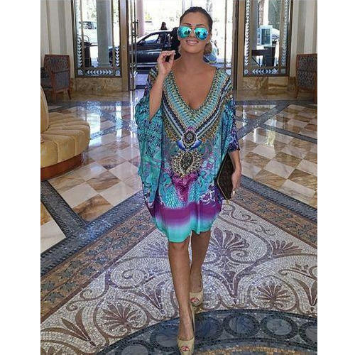 Sublimation Beach Print Kaftan