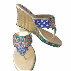 Designer Party Wear Wedge Sandals