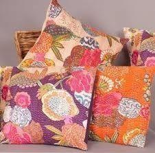Kantha Tropicana Cushions