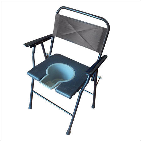 Hospital Patient Toilet Folding Commode Chair With Back