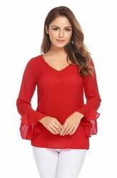 Red Ladies Tops