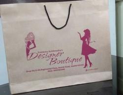 Brown Kraft Paper Bag, For Shopping, Capacity: 1kg