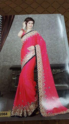 353b421782 Satin Hand Work Saree at Rs 700 /piece(s)   Kalbadevi   Mumbai   ID ...