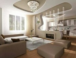 Concealed Grid Armstrong Living Room False Ceiling, Provide Installation: Yes, Thickness: 12 Mm