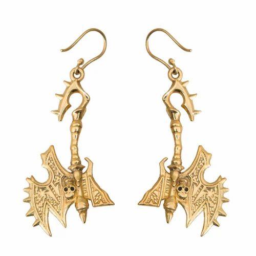 1afdc4b38 Taj Pearl Gold Tone Egyptian Stylish Pretty Earrings, Designer Party ...
