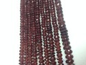Garnet Faceted Rondelle Gemstone Beads