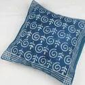 Indigo Dabu Print Rugs And Cushion Cover