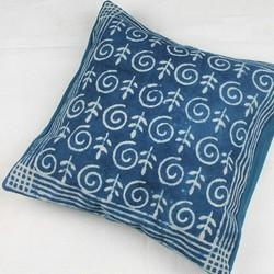 Indigo Dabu Print Rugs And Cushion Cover