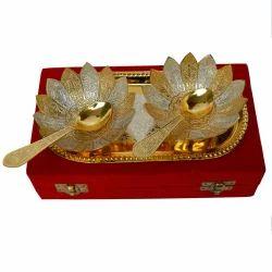 Golden Katori Set Brass Gold Plating, For Home & Hotel