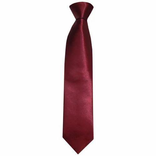 Mens Red Corporate Silk Tie