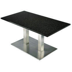 Sharon SS Table Dbl with Granite Top