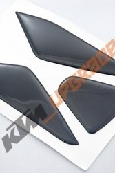 3 Pcs Black Tank Pad Protector Sticker