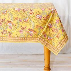 Yellow Printed Table Cloth