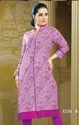 Beautiful Purple Cotton Rayon Printed Kurtis