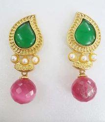 Indian Stylish Color Stone Fashion Earring