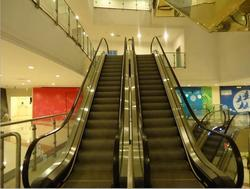Escalator Railing Glass