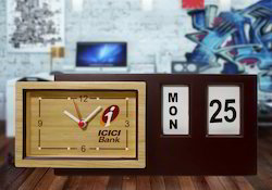 Table Clock With Calender