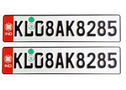 Car Number Plates German Font Color Red At Rs 699 Pair S Car