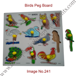 Birds Peg Board