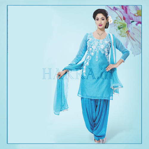 278c5e9b814 Sky Blue Color Embroidered Dress Material at Rs 1675  piece ...
