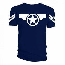Cotton Round Neck Men''S Fancy T-Shirt